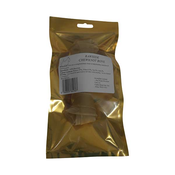 Small Rawhide Chewknot Bone Packet